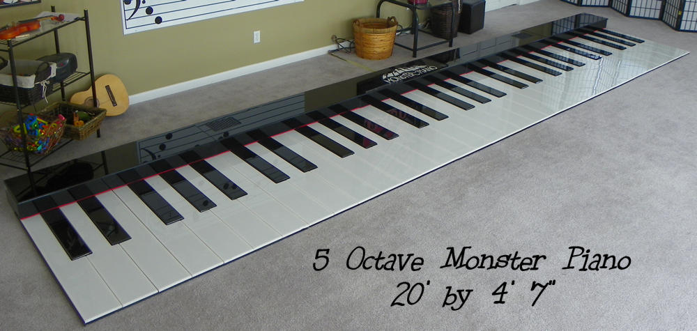 Monster Piano Sizes